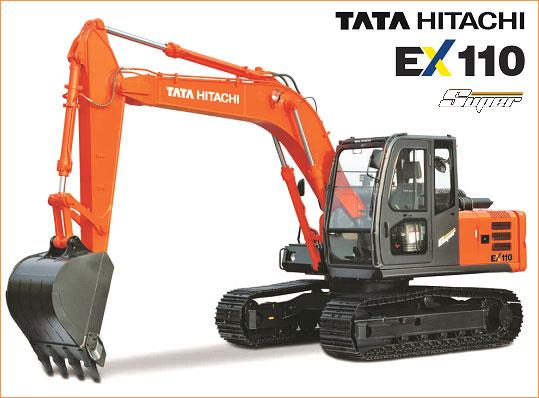 индийский экскаватор Tata-hitachi-EX-110-Super
