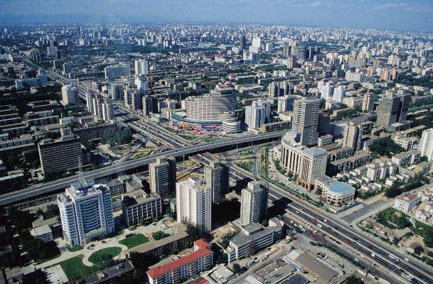 вид сверху на пекин